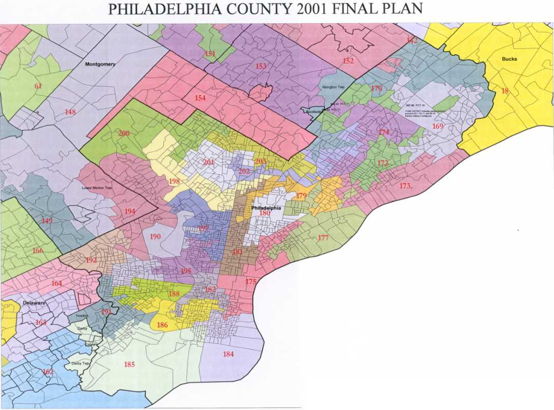 Philadelphia On Map Of Us.District Maps Legislative Redistricting